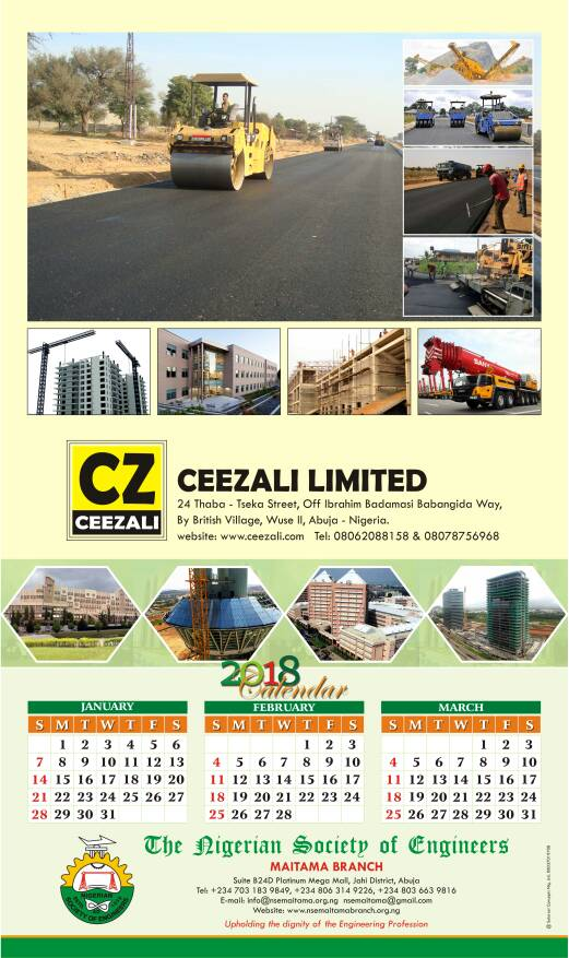 CEEZALI ONE OF THE BRANCH CALENDER SPONSOR