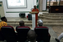THE CHAIRMAN ADRESSING MEMBERS DURING OGM